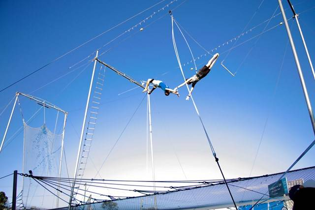 flying trapeze aquatic centre circus