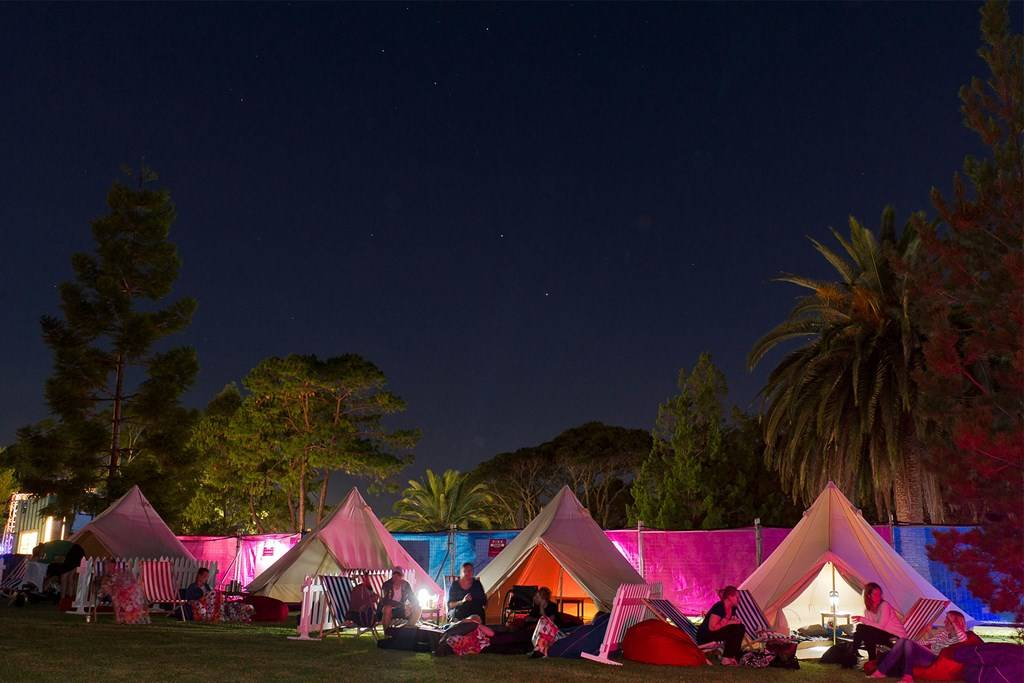 Outdoor Cinema VIP tents