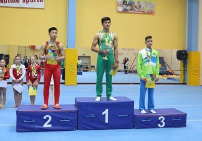 Jose wins of 1st on the Pommel at the Olympic Hopes Cup Liberec last year in Europe