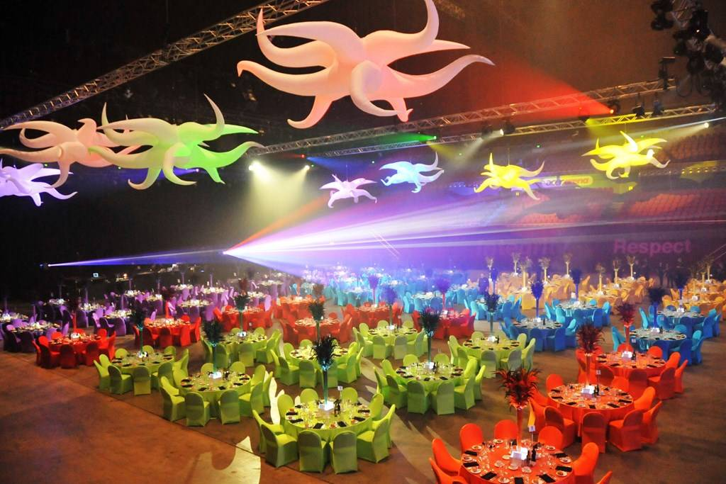 Sydney Olympic Park - Qudos Bank Arena main arena banquet - Photography courtesy of Qudos Bank Arena