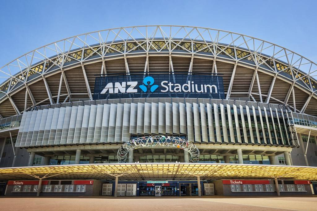 Sydney Olympic Park - ANZ Stadium external day shot - Photography courtesy of ANZ Stadium