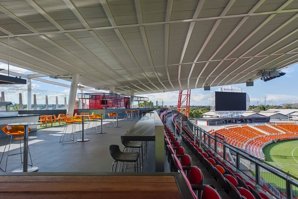 Sydney Olympic Park - Sydney Showground Stadium Sky Deck BBQ deck - Photography courtesy of Sydney Showground
