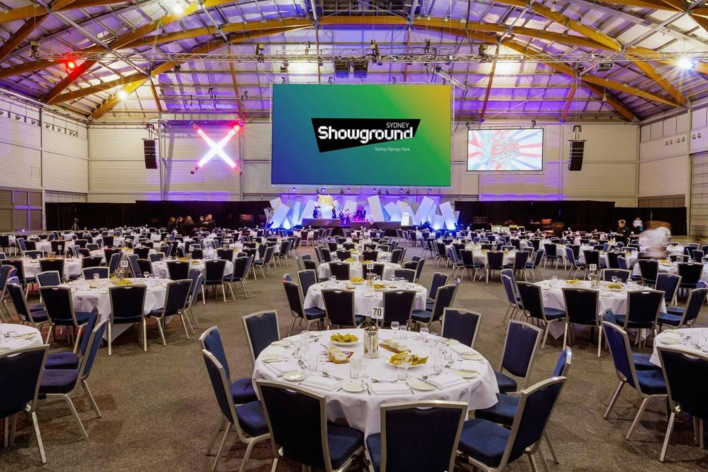 Sydney Olympic Park - Hall 4 Banquet - Photography courtesy of Sydney Showground