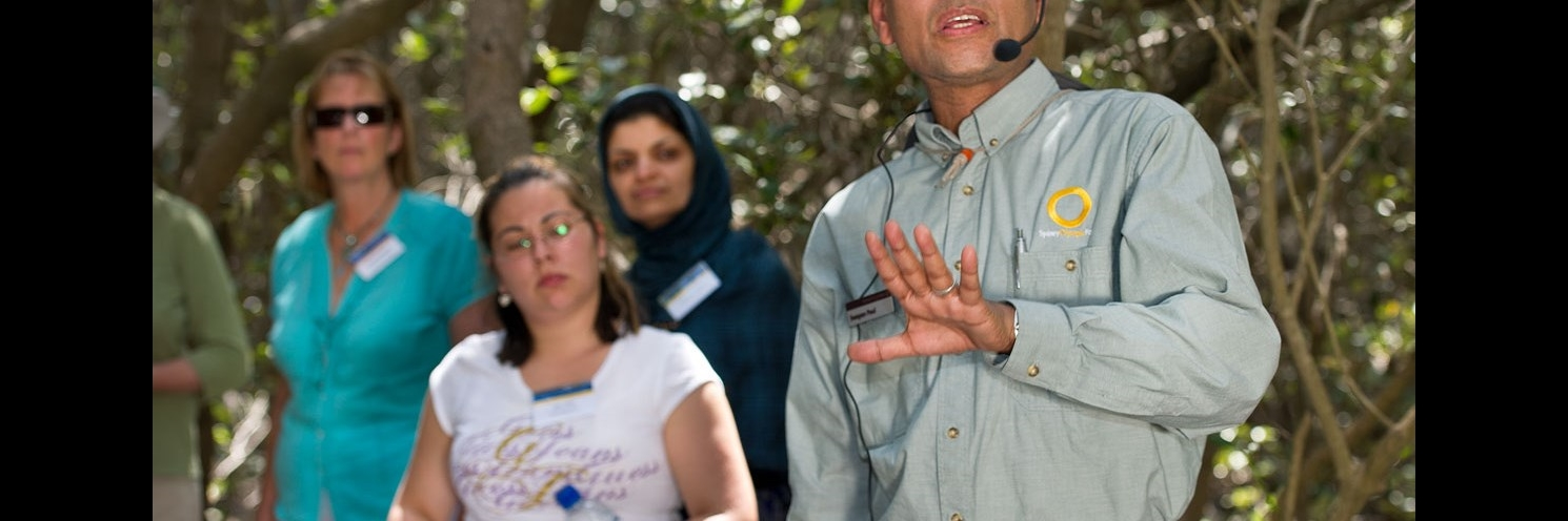 Bicentennial Park Sydney Olympic Park-  WET Workshop Professional Development in the Mangroves - Photograph by Paul K Robbins