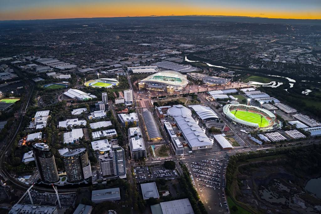 Sydney Olympic Park - Aerial shot - Photo by Ethan Rohloff