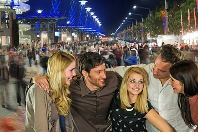 Olympic Boulevard - photo of group enjoying a night out