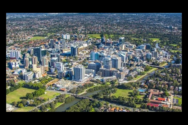 Aerial of parramatta council